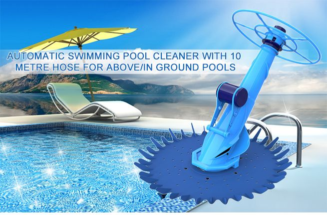 Pool Cleaner Climb Wall Above In Ground Automatic Vacuum Floor Swimming 10m Hose Ebay