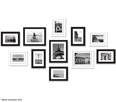 11 Piece Collage Photo Frame Set - Black and White | Crazy Sales