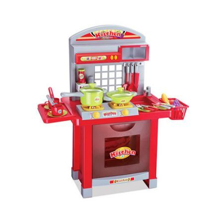 Children's Kitchen Play Set with Oven - Red