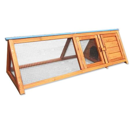 Triangular Wooden Rabbit Hutch | Crazy Sales