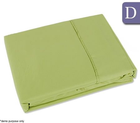 the big sleep double bed fitted flat sheet set green. Black Bedroom Furniture Sets. Home Design Ideas
