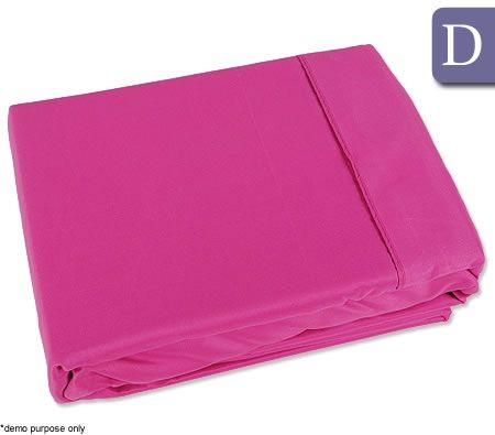 the big sleep double bed fitted flat sheet set pink. Black Bedroom Furniture Sets. Home Design Ideas