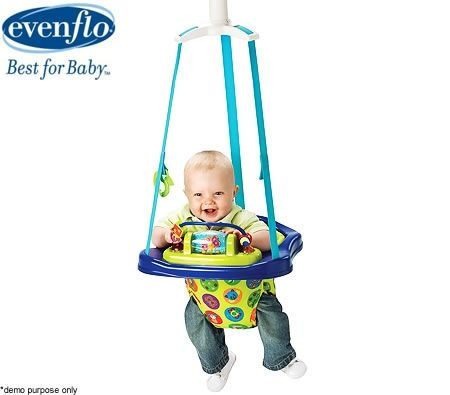 1a366b89b Evenflo ExerSaucer Jump   Go Baby Exerciser Doorway Jumper