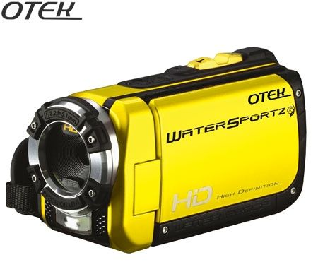 Otek DVH-5B1BL WaterSportz HD Waterproof Camcorder - Yellow