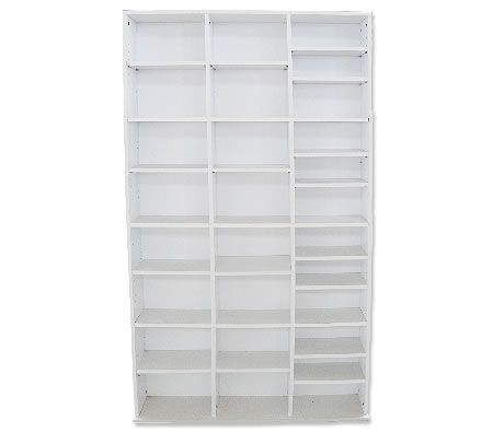 Freestanding CD / DVD Storage Rack - White | Crazy Sales