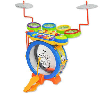 Kids Drum Kit with Keyboard and Synthesizer
