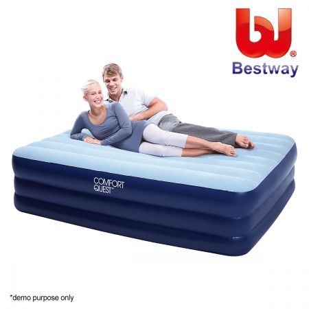 Bestway queen inflatable mattress air bed with built in for Online shopping for mattress