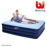 Bestway Queen Inflatable Mattress Air Bed with Built-in Electric Air Pump