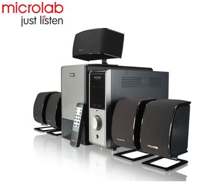 Microlab X-23 Powerful 5.1 Home Theater Subwoofer Speaker System