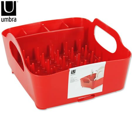 Umbra In Sink Tub Dish Rack - Red
