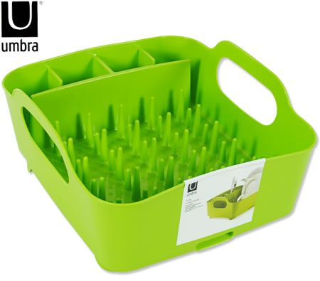 Umbra In Sink Tub Dish Rack - Avocado Green