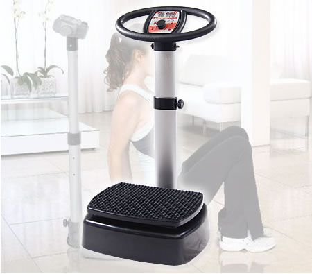 Fitness Vibrating Massager Vibration Machine with Handle Stand / Computer