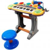 Multi-Function Electronic Organ / Voice Synthesizer with Microphone & Seat
