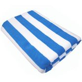 Large Cotton Beach Towel - Aqua