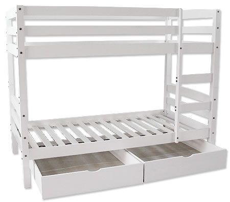 Timber bunk bed frame with drawers white crazy sales for White bunk bed frame