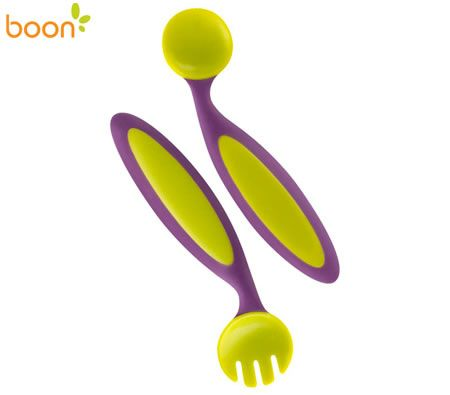 Boon Baby Cutlery Benders - Green & Blue