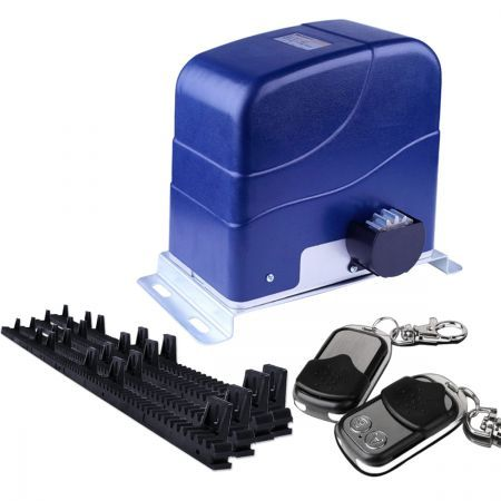 Automatic sliding gate opener with 4m nylon rack crazy sales for Best electric gate motors
