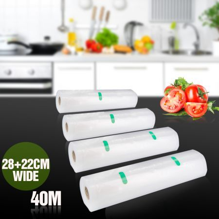 4 Vacuum Sealer Food Saver Bags Replacement Rolls