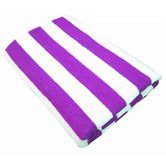 Large Cotton Beach Towel - Purple