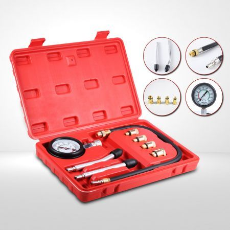 Petrol Engine Compression Tester Kit / Set For Motorcycles and Automotives