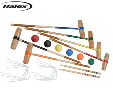 Halex Platinum Croquet Set with Carry Bag - Up to 6 Players