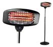 Oscillating Electric Patio Heater with 3 Levels of Heat