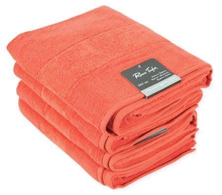 Taylor Auto Sales >> Renee Taylor Egyptian Cotton Towels - Set of 4, Burnt ...