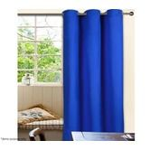 Eyelet Top Curtain Set - 1 Pass Coated Microfibre - Blue