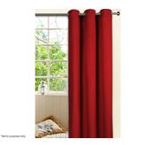 Eyelet Top Curtain Set - 1 Pass Coated Microfibre - Red