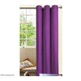 Eyelet Top Curtain Set - 1 Pass Coated Microfibre - Purple