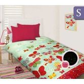 Happy Kids Glow in the Dark Single Bed Quilt Cover Set - Butterflies In Spring