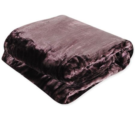 Super Soft Mink Blanket Queen King Size Mauve Crazy