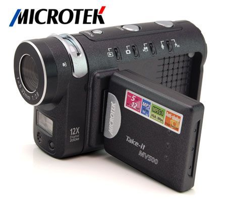 microtek take it max 12 0mp cmos mpeg 4 digital video camera w 12x rh crazysales com au