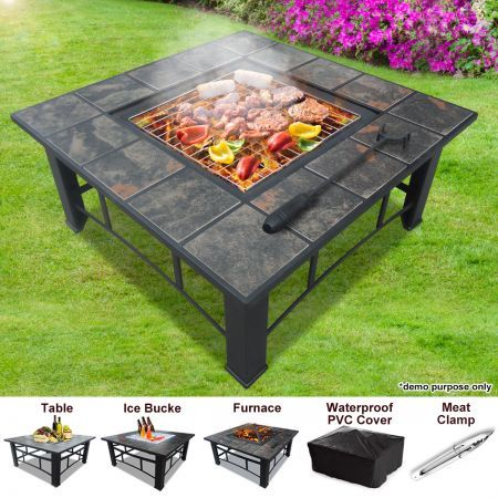 Charmant Multi Function BBQ Pit Table