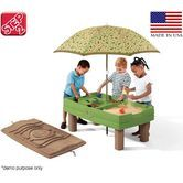 Step2 Sand & Water Center with Umbrella Childrens Play Table