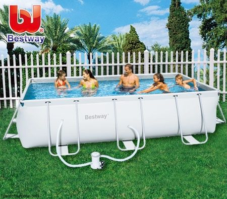 Bestway large steel pro frame above ground swimming pool - Largest above ground swimming pool ...