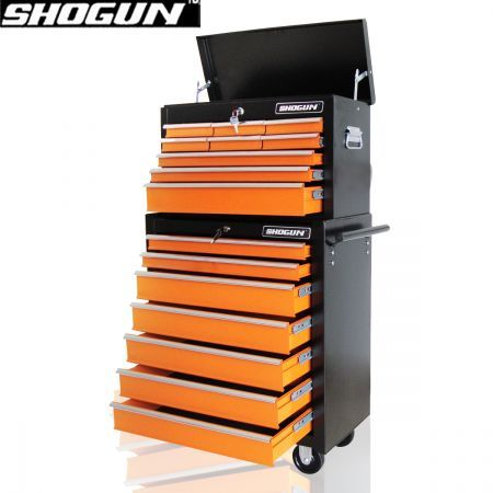 16 Drawer Tool Box Trolley - Orange