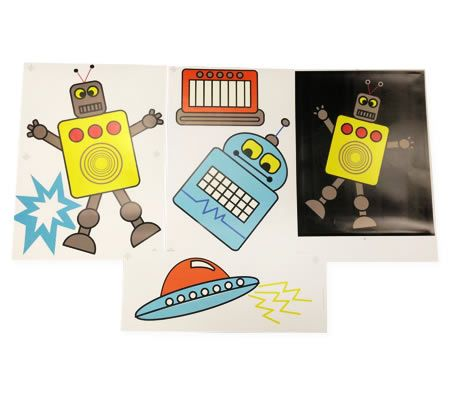 Happy Kids Robot Wall Stickers