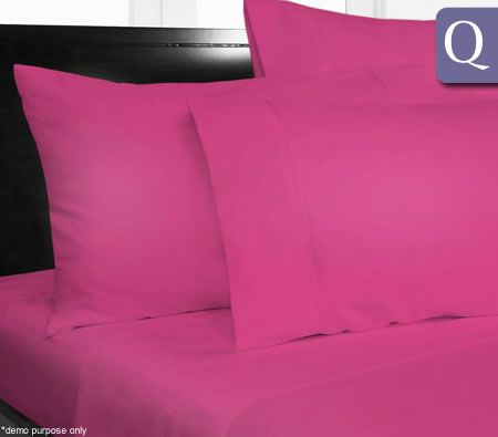 The Big Sleep Microfibre Sheet Set Queen Bed - Hot Pink
