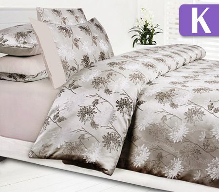 accessorize king bed quilt cover set petra latte crazy. Black Bedroom Furniture Sets. Home Design Ideas