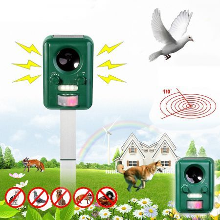 Motion  Activated Solar Power Pest Repeller