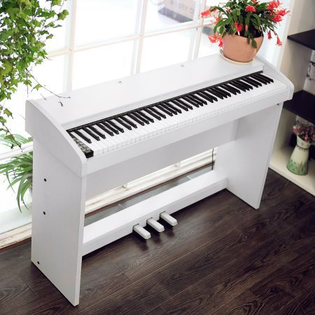 melodic 100 rhythm 88 standard digital piano white crazy sales. Black Bedroom Furniture Sets. Home Design Ideas
