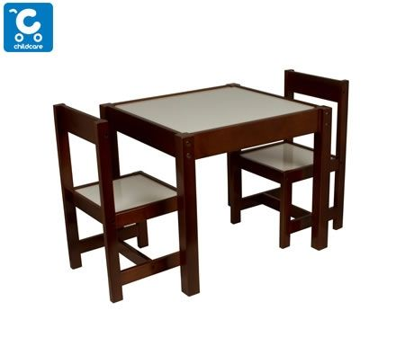 Childcare Junior Table & Chairs Set Walnut