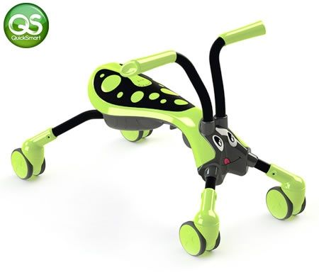 Scramble Bug Ride On Toy - Hornet - Green/Black