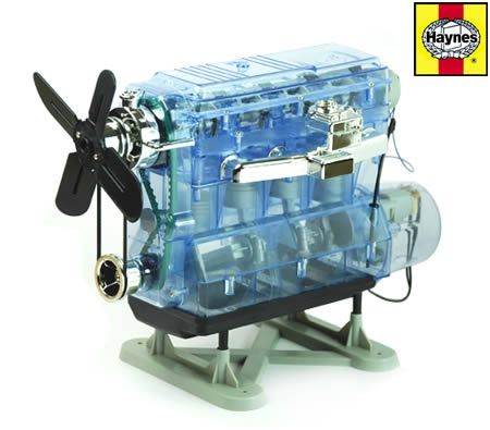 Haynes Build Your Own Internal Combustion Engine w Ignition Sound DIY Kids Engine Model Kit