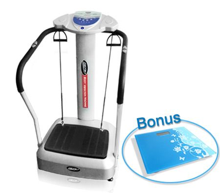 Fitness Vibration Machine w/ MP3 & Electronic Bathroom Scale Combo