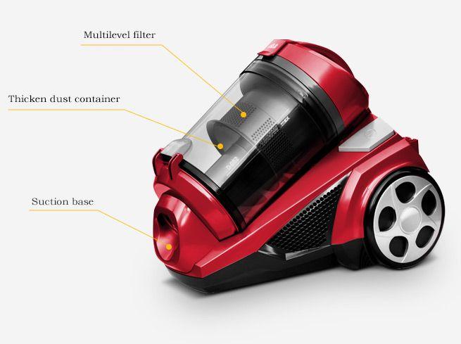 Red Maxkon 3 0l Bagless Vacuum Cleaner Bestdeals Co Nz