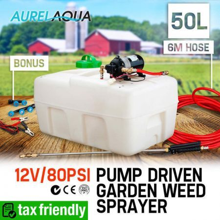 Aurelaqua 50L / 12V Pump Driven Weed Sprayer