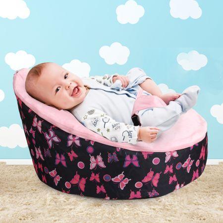 Astonishing Pink Baby Bean Bag Machost Co Dining Chair Design Ideas Machostcouk
