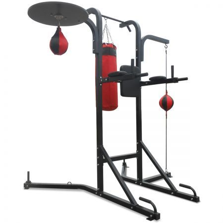 multi station boxing stand with power tower image number. Black Bedroom Furniture Sets. Home Design Ideas